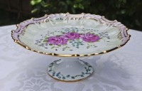 Matching pedestal dessert plate to fluted fancy plate collection