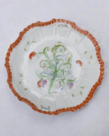 hand painted dinner plate or charger
