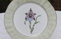 Tiger orchid dessert plate